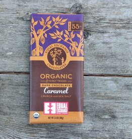 Equal Exchange Organic Dark Chocolate Caramel Crunch with Sea Salt (55% Cacao)