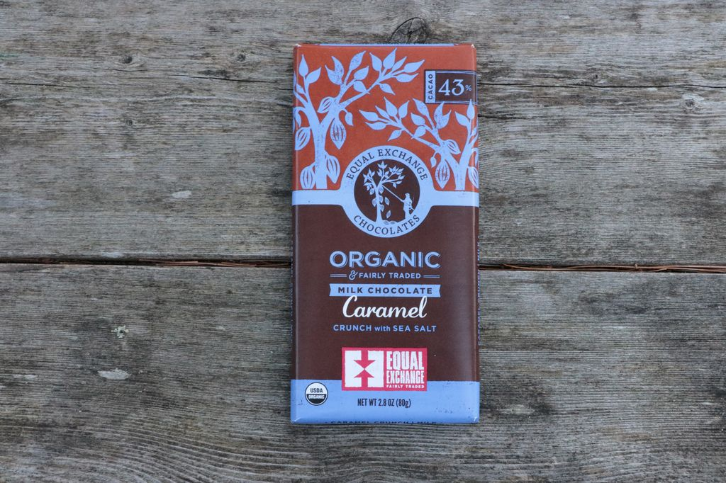 Equal Exchang Organic Milk Chocolate Caramel Crunch with Sea Salt (43% Cacao)