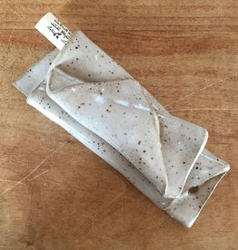 Hand-made ceramic mezuzah by Avigail Ruth - speckled tan