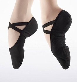 So Danca Canvas Split-sole Shoe Black