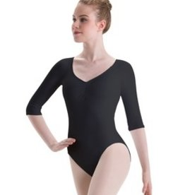 Motionwear Pinch Front Raglan Sleeve Key Hole