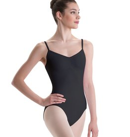 Motionwear Pinch Front Bowtie Loop Bacl Cami Leotard