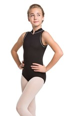 Ainsliewear Girl's Dakota Leotard with Contrast Piping