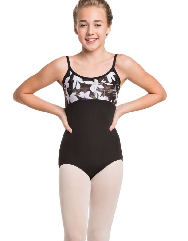 Ainsliewear Girl's Tara Leotard with Floating Flower Print