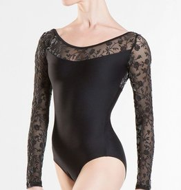 Wear Moi Sibelle Lace long sleeved leotard, low back