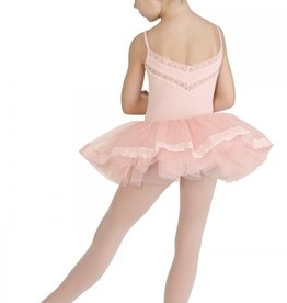 MIRELLA Flower stretch lace and ribbon hem tutu skirt