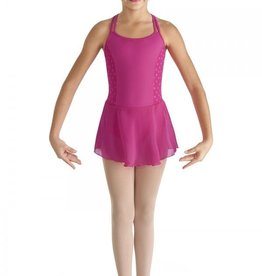 Bloch Asar | Heart Mesh Side Panel Twin Strap Skirtted Camisole Leotard