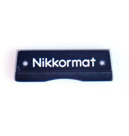 Nikon Pentaprism nameplate for Nikkormat FTN (black)