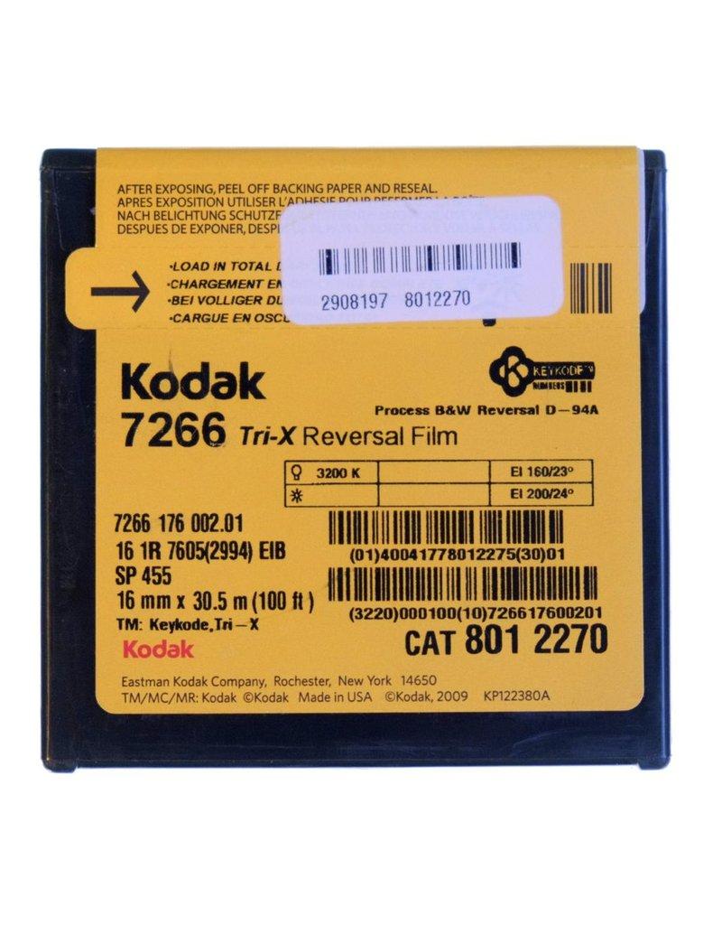 Kodak Kodak Tri-X 7266 black & white reversal film for 16mm. 100 foot roll.