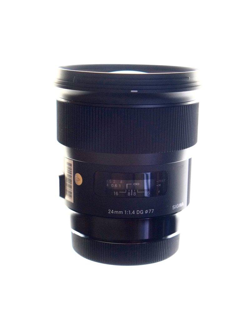 RENTAL Sigma Art 24mm f1.4 DG lens rental.