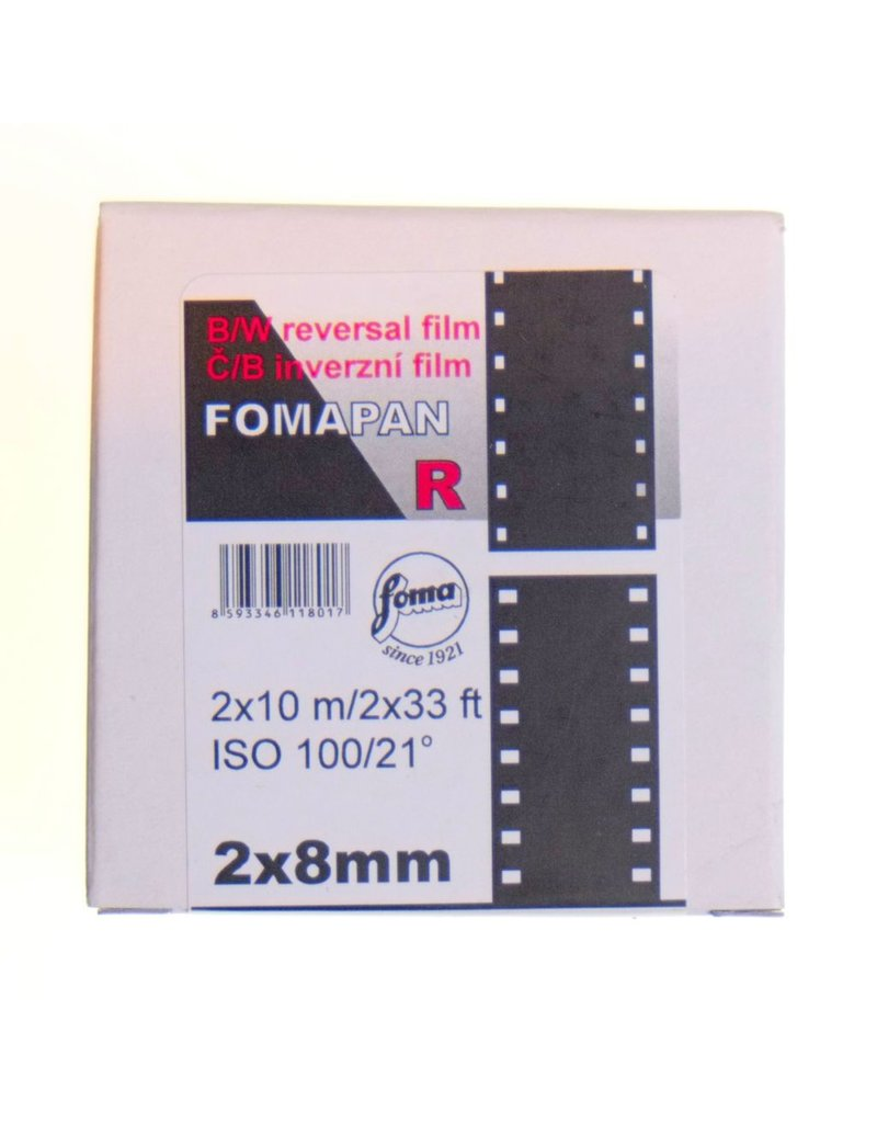 Foma Foma Fomapan R100 film.  Double 8 (2x33ft)
