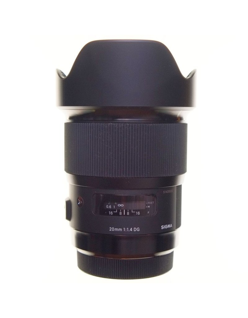 RENTAL Sigma Art 20mm f1.4 DG lens rental.