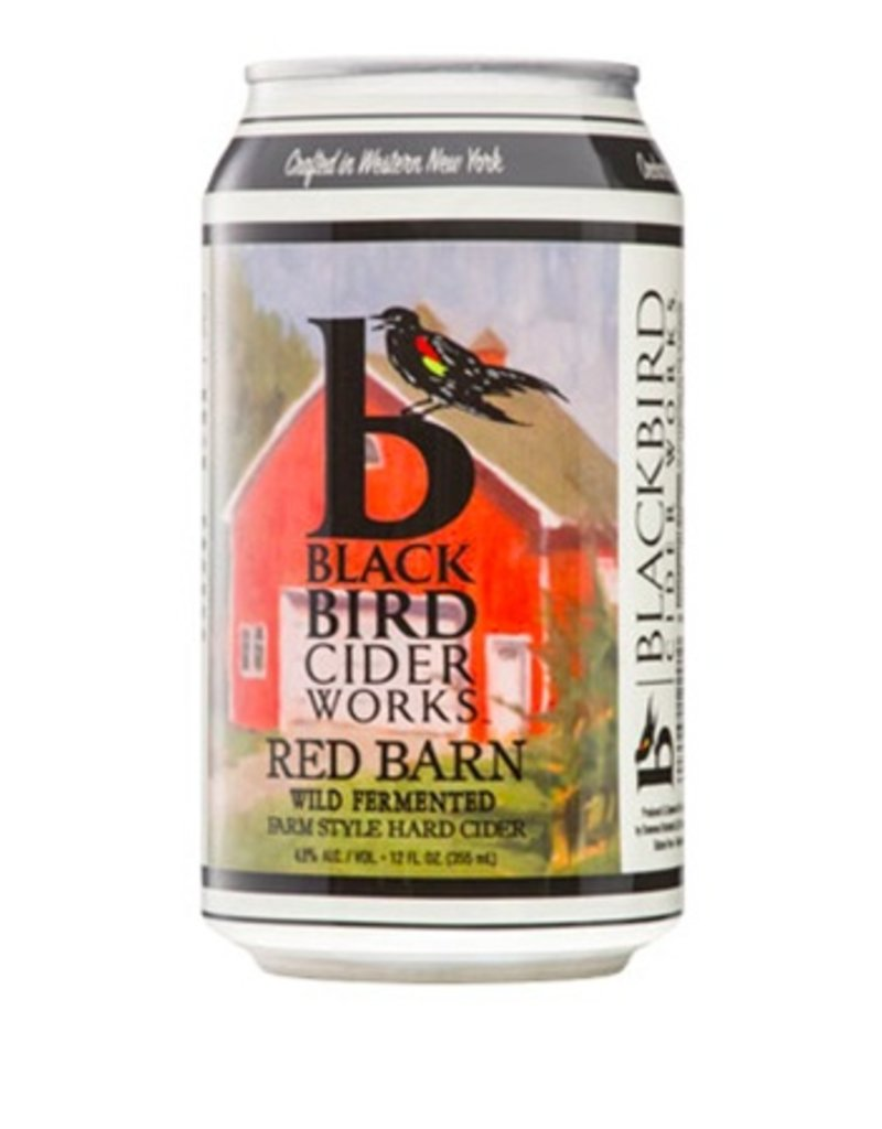 BlackBird Cider Works Red Barn Farm Style Cider 6pk cans