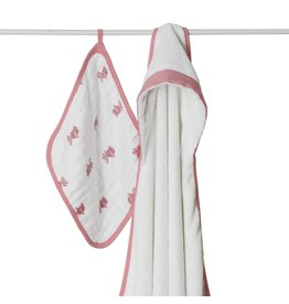 ecobaby Aden + Anais - Hooded Towel & Washcloth - Bathing Beauty