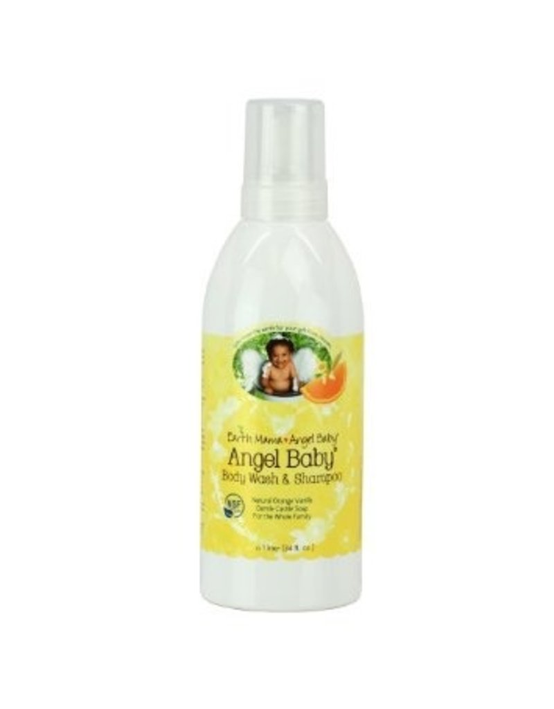 Earth Mama Angel Baby Angel Baby Shampoo and Body Wash -Orange Vanilla 160 ml. (5.3 oz.)