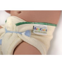 Baby Kicks Organic Cotton/Hemp Prefold - (preemie to 9lbs)Baby Kicks - Organic Cotton/Hemp Prefold - Small (7-13lbs)