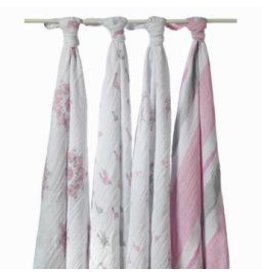 Aden + Anais Aden + Anais Swaddle Blanket - For the Birds - 4pk