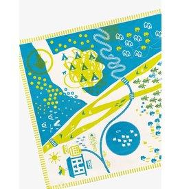 Deuz Deuz - Tapikid Organic Playmat - #3(lime/blue)
