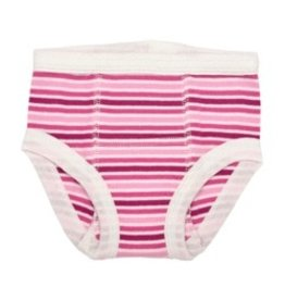 ecobaby Under the Nile-Training Pants, Girl Raspberry Stripe 12-24 months (20- 28 lbs)