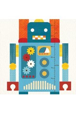 Petit Collage Fabric Wall Decals, Robot Growth Chart