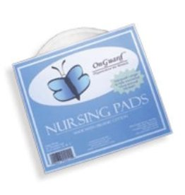 """ecobaby On Guard - Organic Cotton Nursing Pads 7"""" Round (D+ Cup)"""