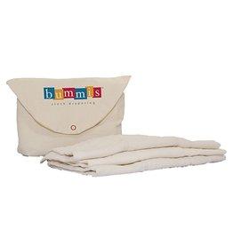 Bummis Bummis - Organic Cotton Prefold Inserts - 6pk - Baby (15-40lbs)