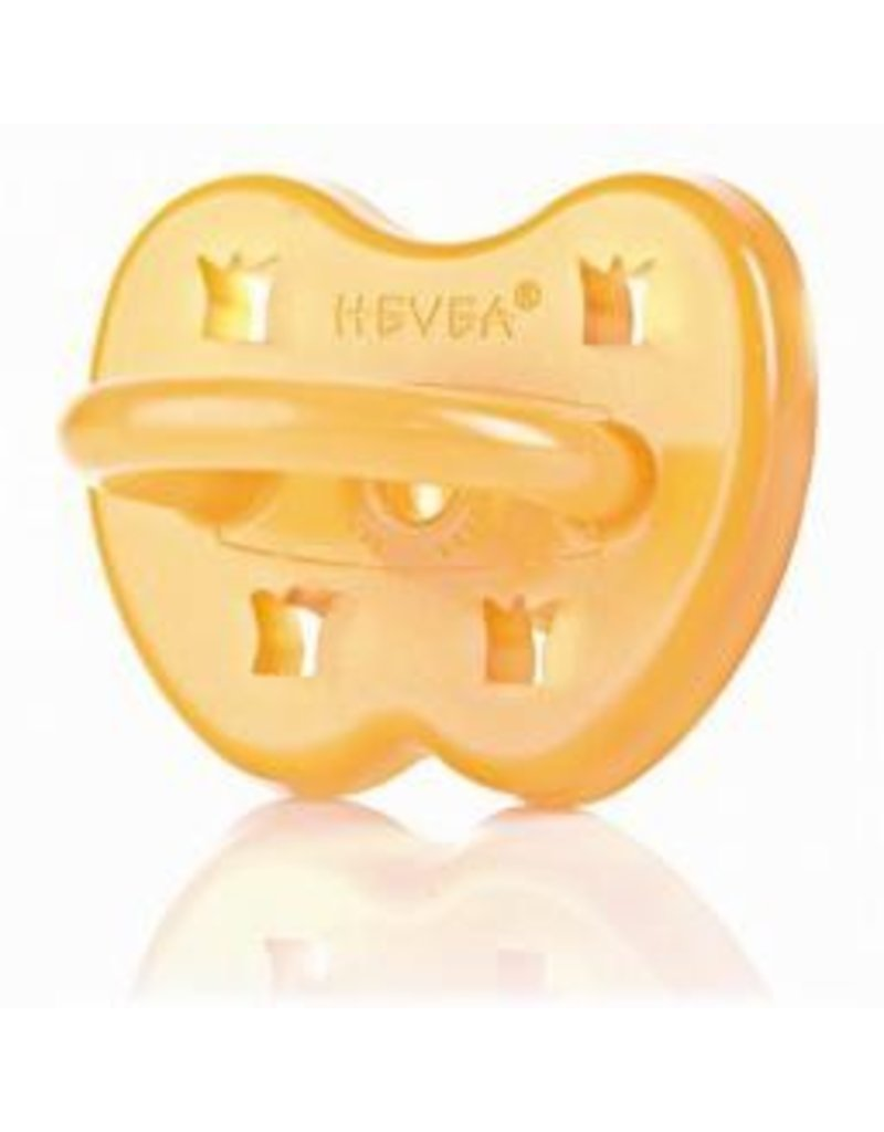 Hevea Pacifier - 3-36 mo, Rounded: CROWN