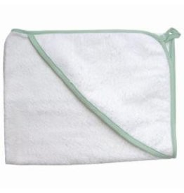 Under the Nile Under The Nile - Hooded Towel Sage Trim Natural - One Size