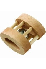 Maple Landmark Natural Wood Oval Bell Rattle