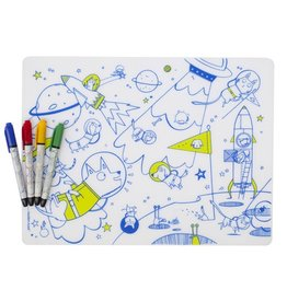 Modern twist Placemat: Space Animals & 4 markers
