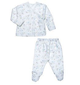 Under the Nile Under the Nile- Side Snap Layette Set