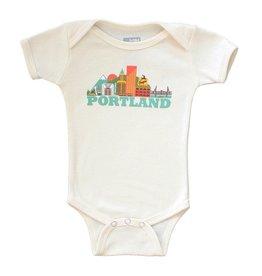 All Good Living, LLC Cityscape- Short Sleeve Onesie, Portland