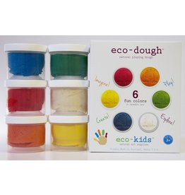 Eco-Kids Natural dough, 6 Pack