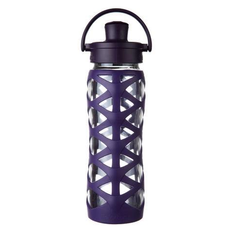 Lifefactory Glass bottle with a flip cap