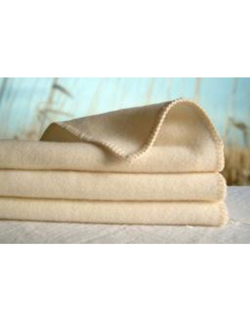 "Organic Caboose Fine Organic Wool PLUSH Baby Blanket - 28"" x 34"""