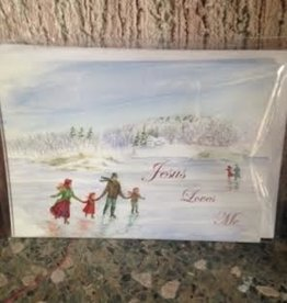 """Jesus Loves Me"" Christmas Card"