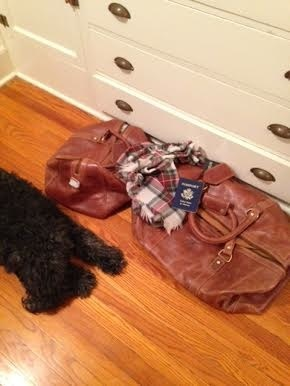 Large Leather Duffel Bag w Crest, Optional Class Year (Drop Ship)