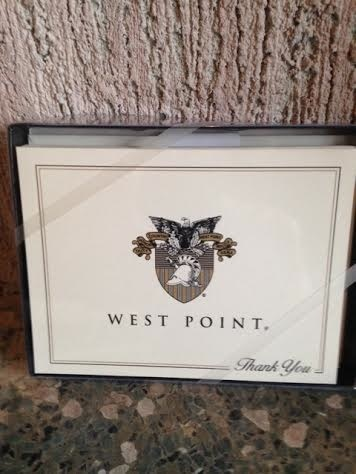 """""""Thank You"""" West Point Notecards with Crest (Ten Per Box)"""