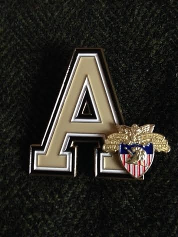"Army ""A"" with USMA Crest Lapel Pin"