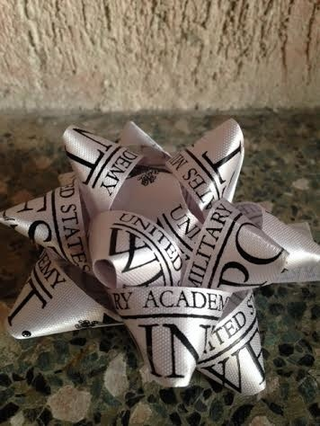 Silver Bow with Black Lettering
