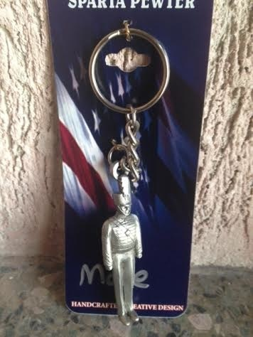 Pewter Cadet Keychain