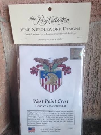 Large West Point Crest Cross Stitch Kit