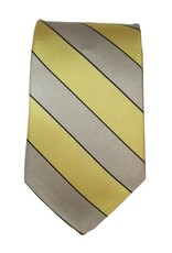 West Point Gold and Gray Silk Tie