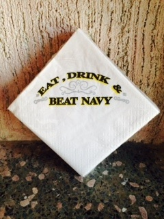 """""""Eat, Drink and Beat Navy"""" Napkins"""