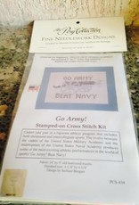 """Go Army Beat Navy"" Stamped on Cross Stitch Kit"