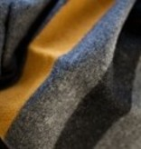 Foot Soldier Military Wool Blanket: Gray, Gold and Black