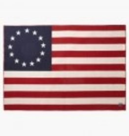 Betsy Ross Flag Woolen Blanket (45 X 72 inches)