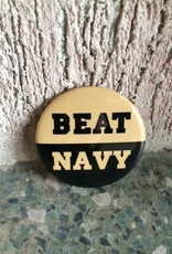 BEAT NAVY Button (Pins onto your Lapel)