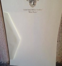 Boxed West Point Gold Foil Stationery