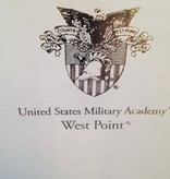"""Boxed Set of Ivory Stationery with USMA Crest and """"WEST POINT"""" in Gold Foil"""